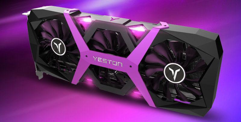 YESTON Releases Black, Purple Radeon RX 590 Game Ace