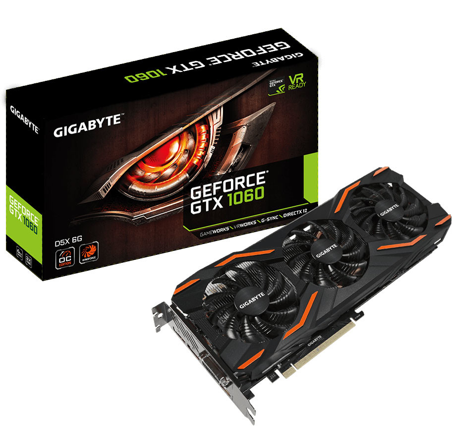 GIGABYTE Outs a Trio of GTX 1060 6GB Graphics Cards with GDDR5X Memory