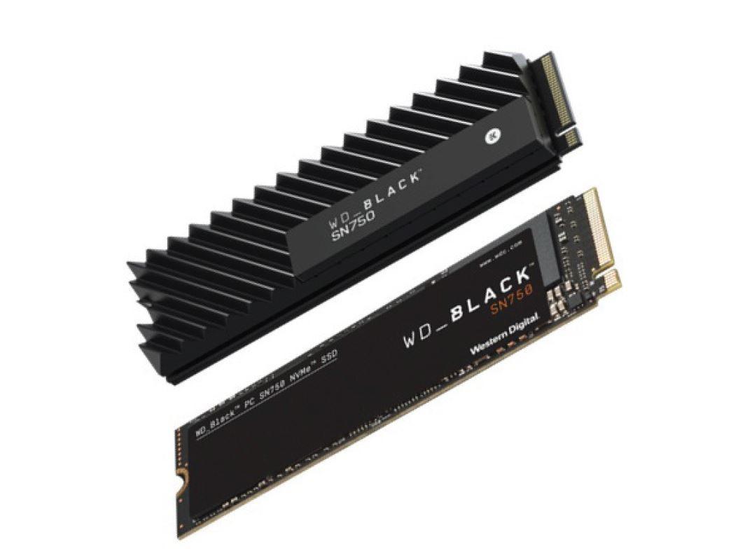 Western Digital WD Black SN750 is a High-end NVMe SSD with a Chunky Heatsink