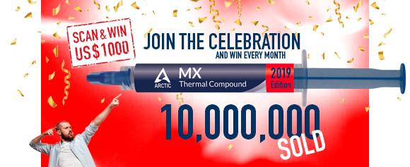 (PR) Arctic Celebrates 10 Millionth MX-series TIM Sold with 2019 Editions