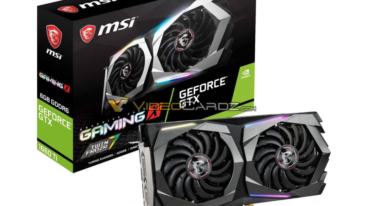 MSI Redesigns GAMING, ARMOR Graphics Cards for GTX 1660 Ti Launch