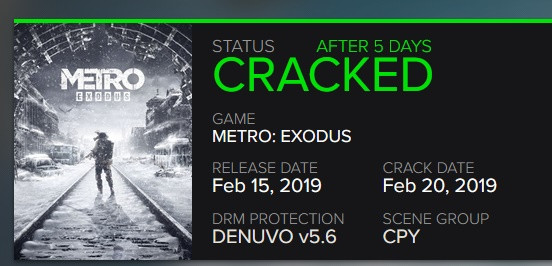 Denuvo 5.6, Used in Both Metro Exodus and Far Cry New Dawn, Cracked in Five Days; UWP for Crackdown 3 Bypassed