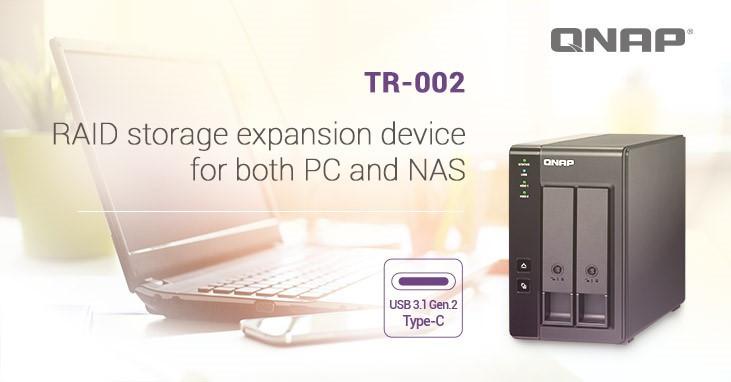 (PR) QNAP Unveils the TR-002 – a 2-bay RAID Expansion Enclosure for NAS
