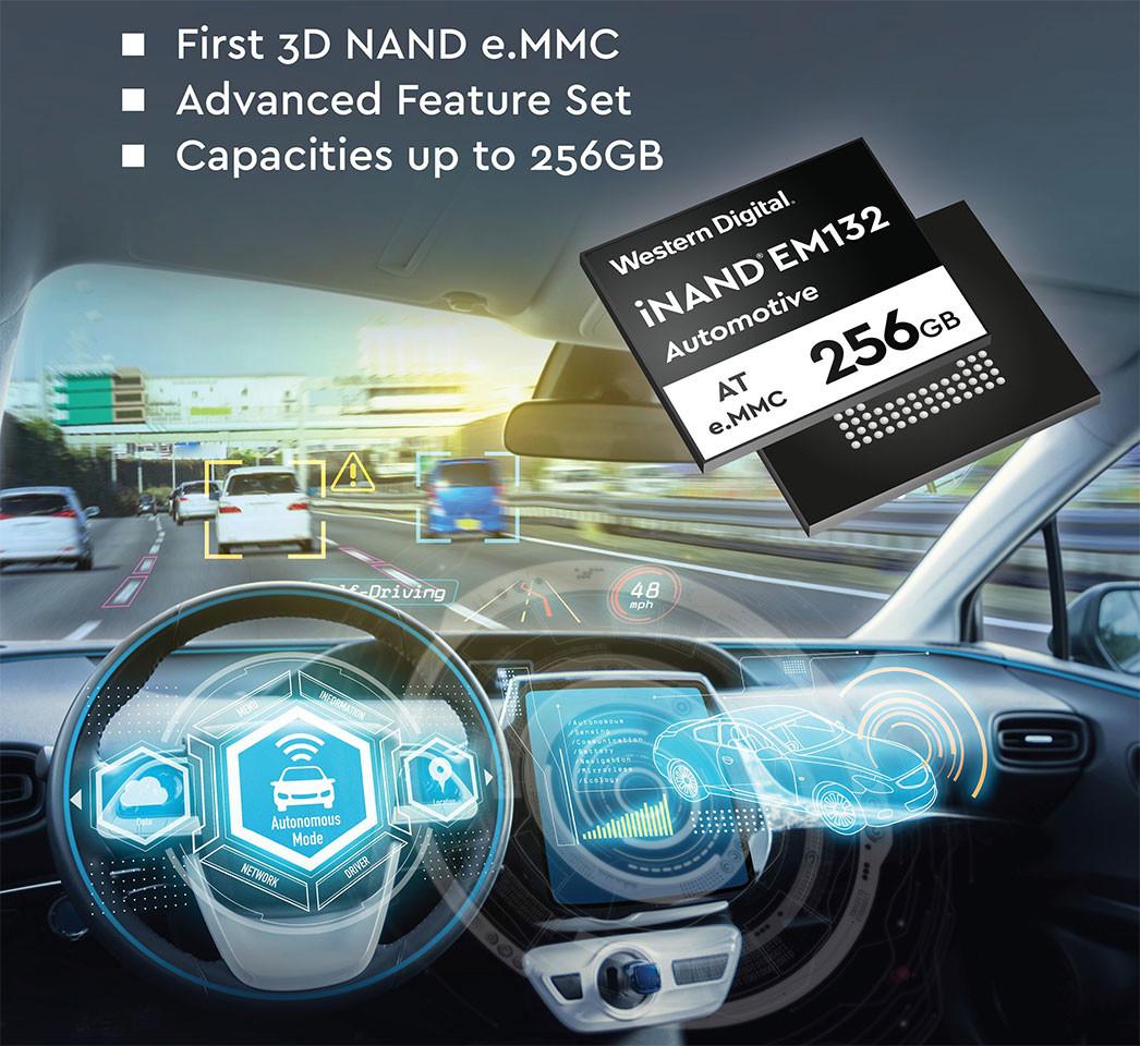 (PR) Western Digital Announces Automotive-grade iNAND EM132 eMMC Storage