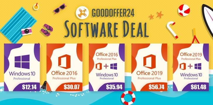 GoodOffer24 Unveils Summer Sale: Deep Discount Windows and Office Software