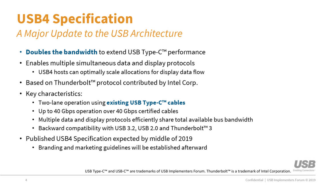 Speeding Up your USB: USB 4.0 Products Expected to Appear by the end of 2020