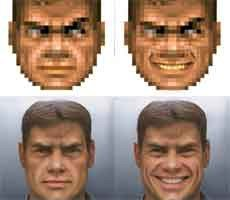 Doom Guy Goes From Pixelated Blob To High-Res Human Hero With AI Rendered Wizardry