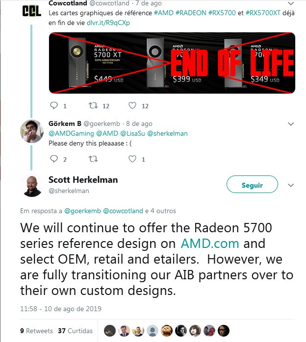 AMD To Continue Offering Reference Design for RX 5700, RX 5700 XT