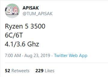 AMD Ryzen 5 3500 to Lack SMT, Takes on Core i5-9400