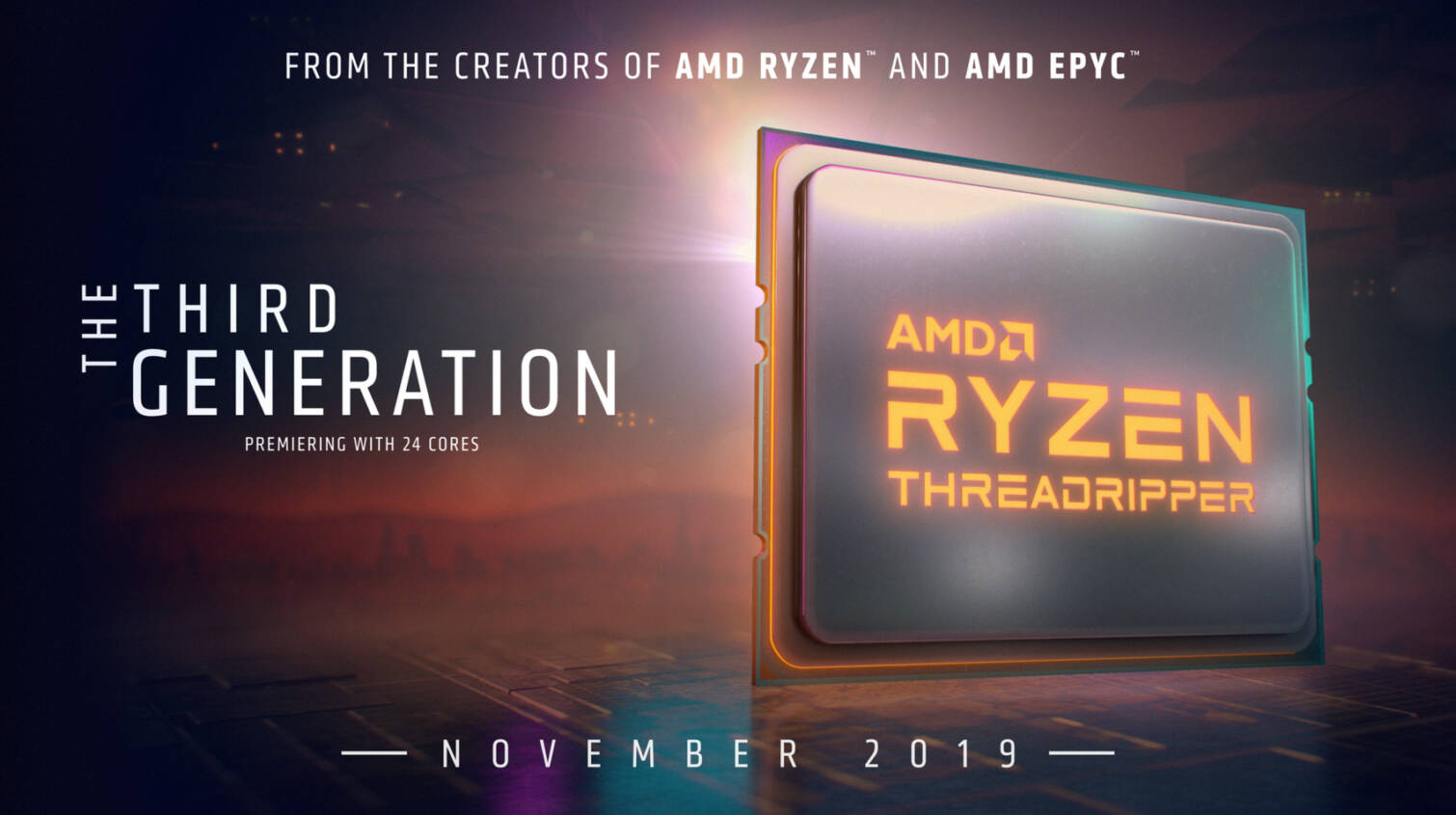 AMD Confirms: Ryzen 9 3950X and Threadripper 3rd Generation Coming in November