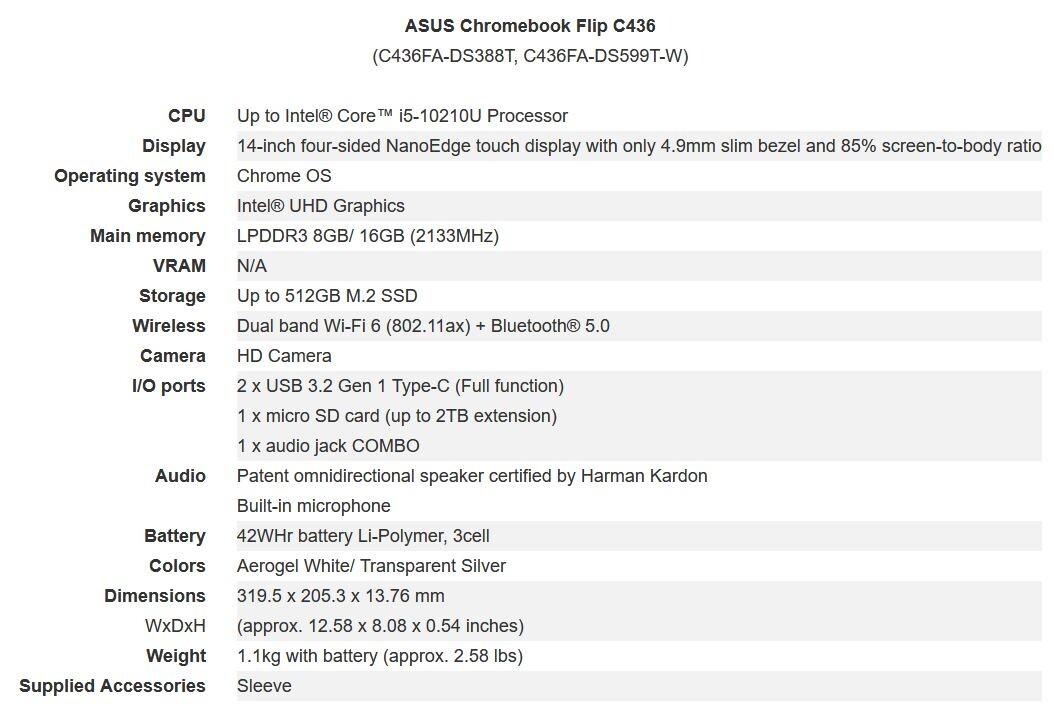 "(PR) ASUS Announces Chromebook Flip C436, Powered by Intel ""Project Athena"""