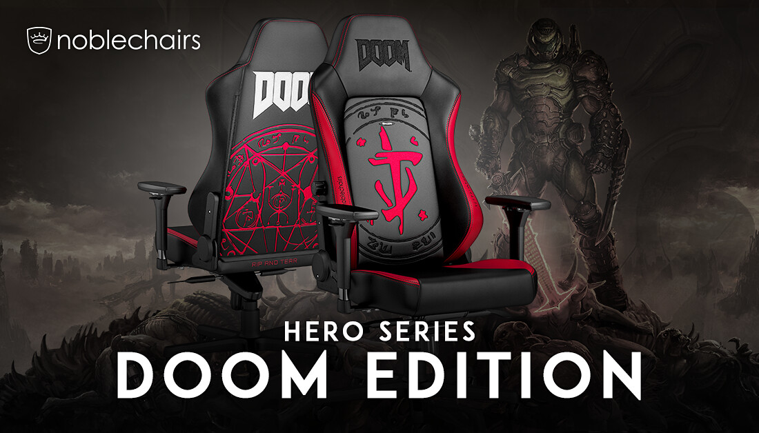 (PR) Noblechairs Announces DOOM Edition Gaming Chair Availability