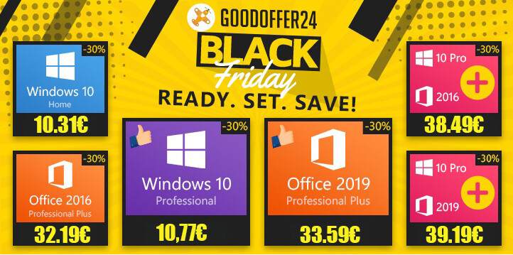 GoodOffer24 Black Friday Sale: Lowest Prices on Genuine Software