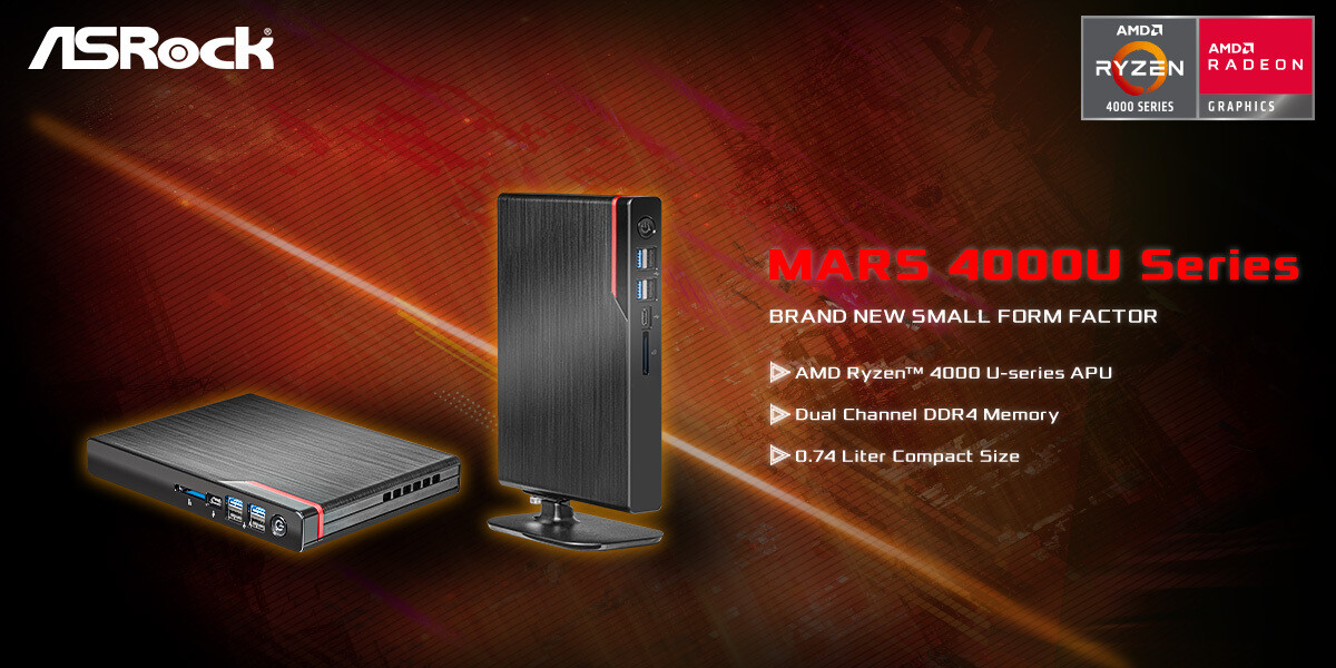 (PR) ASRock Announces The World's Thinnest AMD Mini PC – Mars 4000U Series