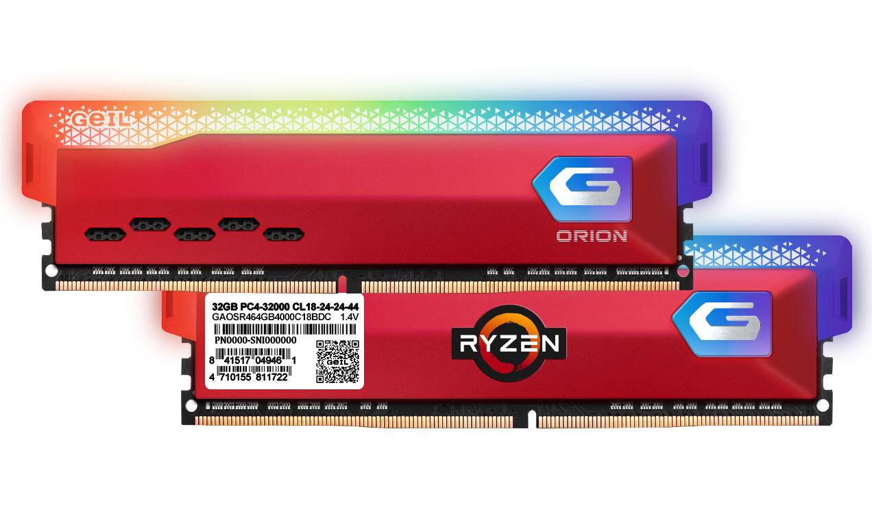 (PR) GeIL Announces Availability of ORION Series DDR4 Memory for Ryzen 5000 Series