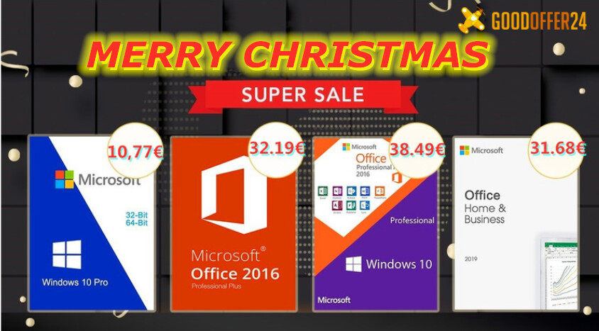 Merry Christmas Super Sale by GoodOffer24 on Genuine Software
