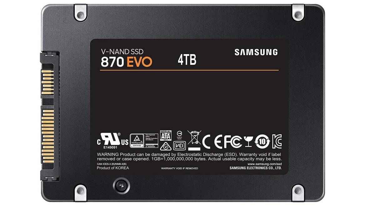 Samsung Readies 870 EVO SATA SSD to Soak Up Your Swelling Game Libraries