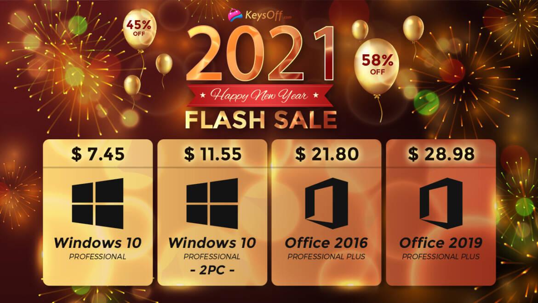 KeysOff 2021 New Year Flash Sale: Lowest Prices on Genuine Software