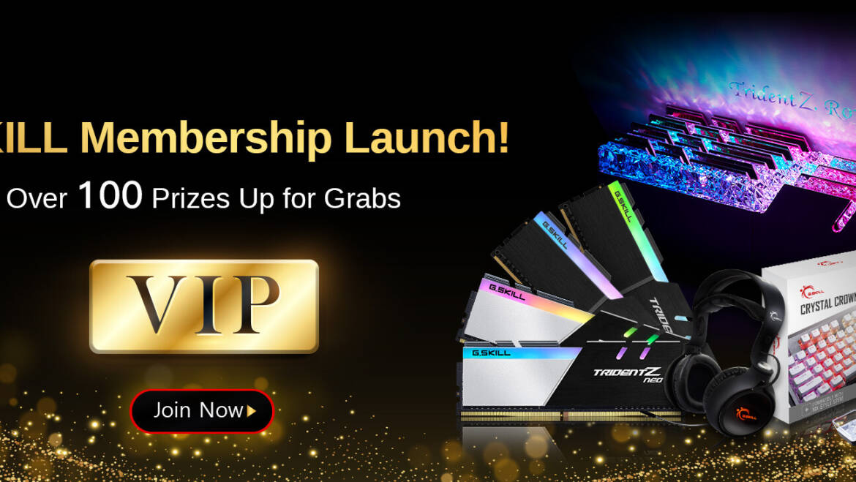 G.Skill Announces Membership Program, Over 100 Prizes Up for Grabs