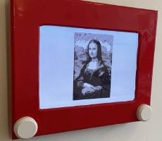 Glorious Jumbo Etch A Sketch Is A Raspberry Pi Powered Auto-Drawing Work Of Art