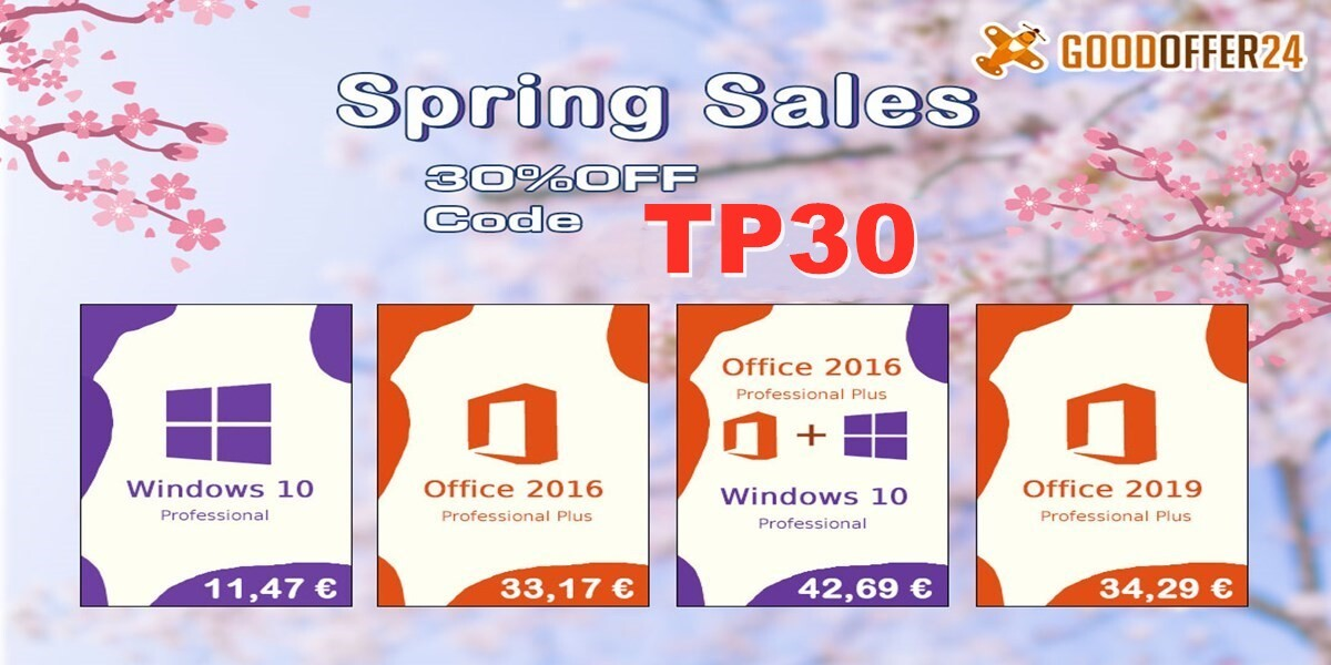 GoodOffer24 Spring Sale on Discounted Genuine Software
