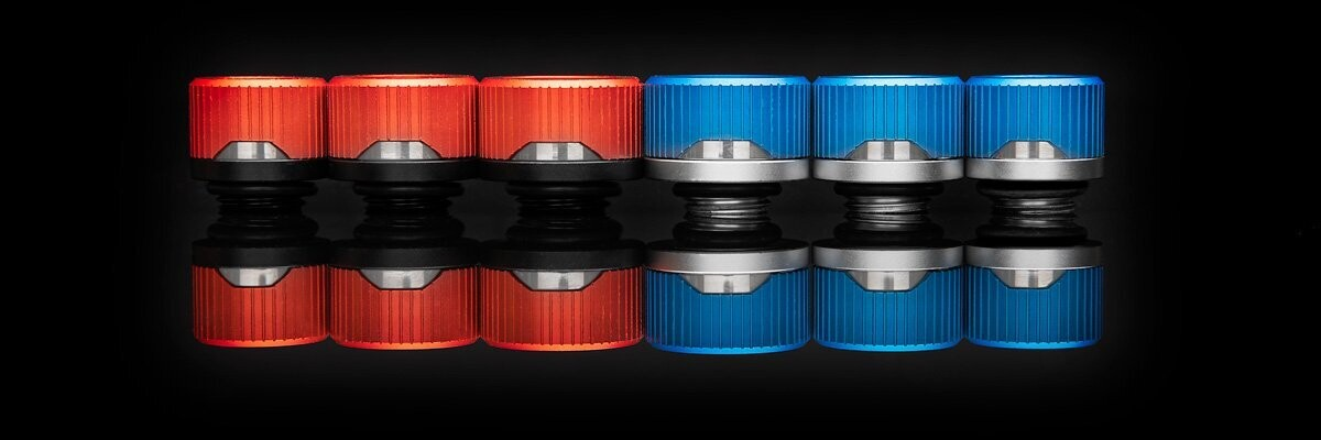 (PR) EK Expands Quantum Torque Fitting Lineup with Special Edition Red/Blue HDC Fittings
