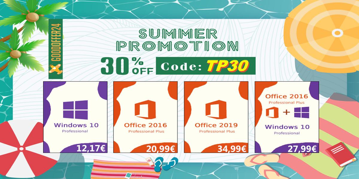GoodOffer24 Unveils Summer Promotion: Discounts on Genuine Software