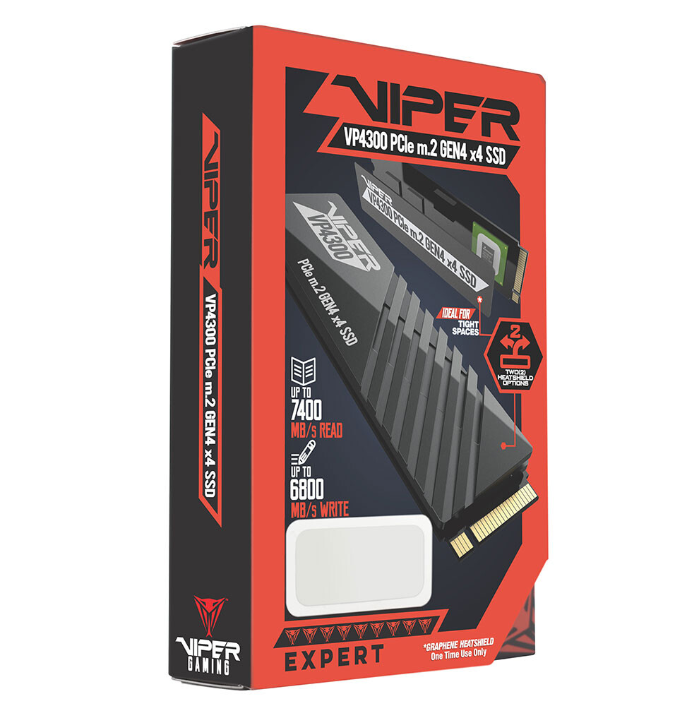 Patriot Viper Announces VP4300 M.2 Gen4 SSD Series