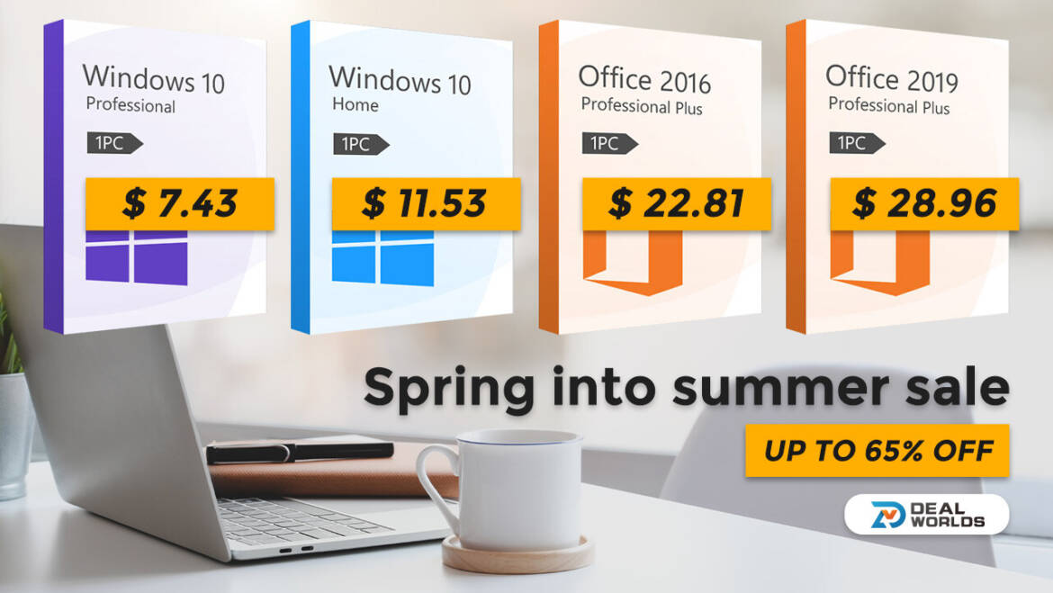 Dealworlds Spring into Summer Sale: Heavily Discounted Genuine Software