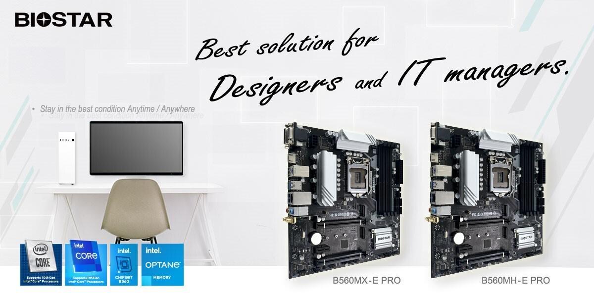 (PR) BIOSTAR Announces B560MX-E PRO and B560MH-E PRO Motherboards