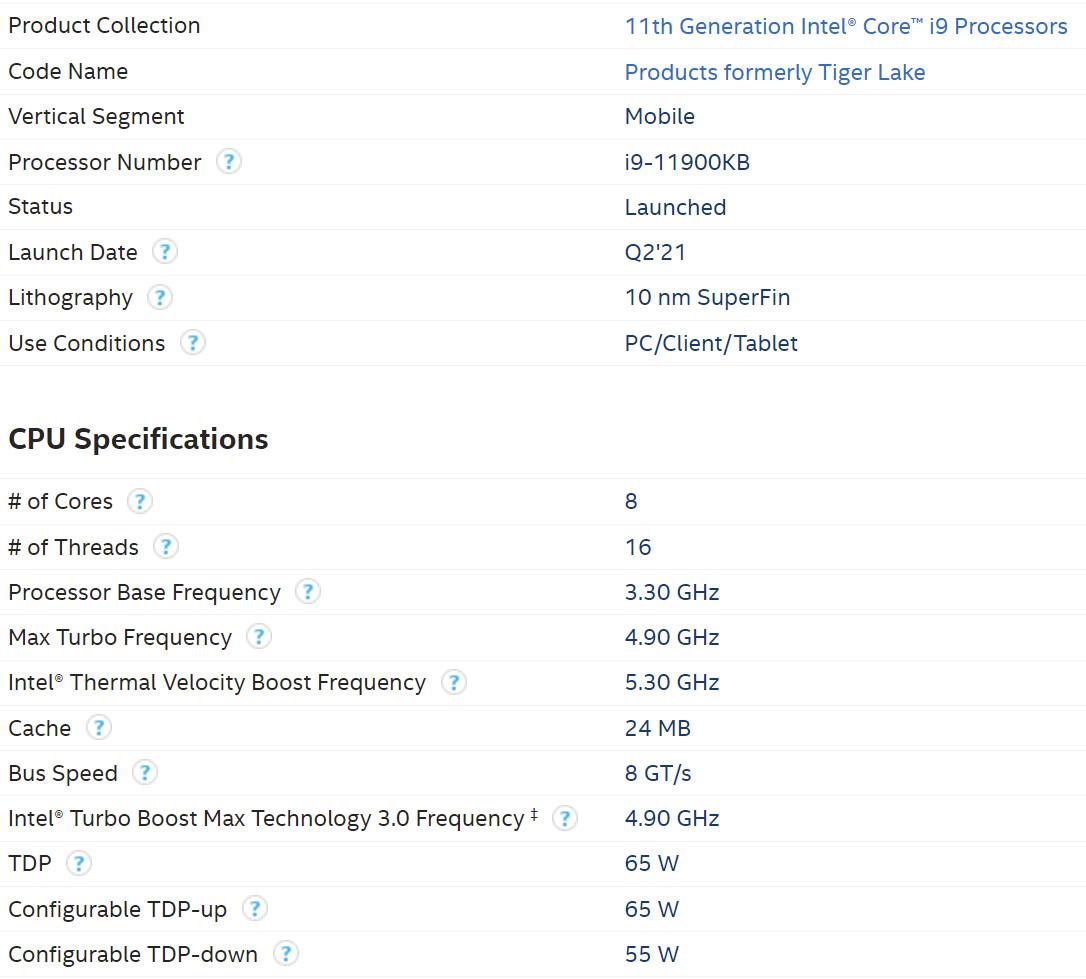 "Intel Launches 10nm ""Tiger Lake"" Desktop Processors"