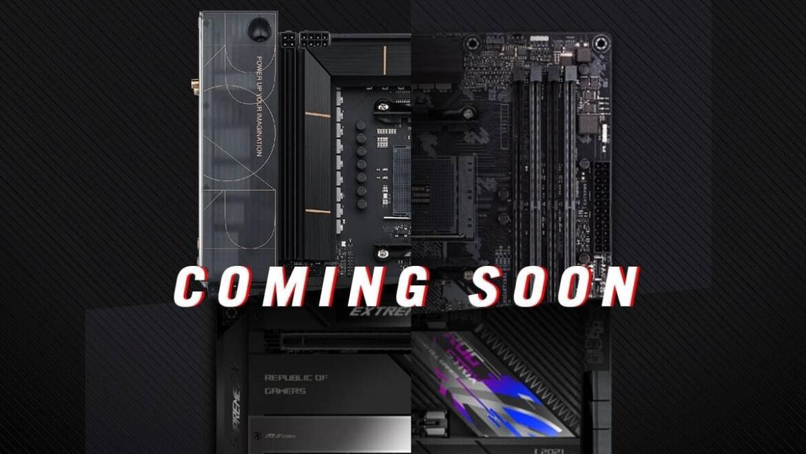 ASUS Teases Four Upcoming X570 Motherboards with Fanless Chipset Cooling