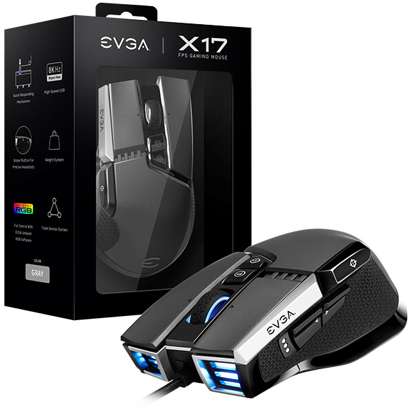 (PR) EVGA Releases X17 and X15 Gaming Mice with NVIDIA Reflex Analyzer Support