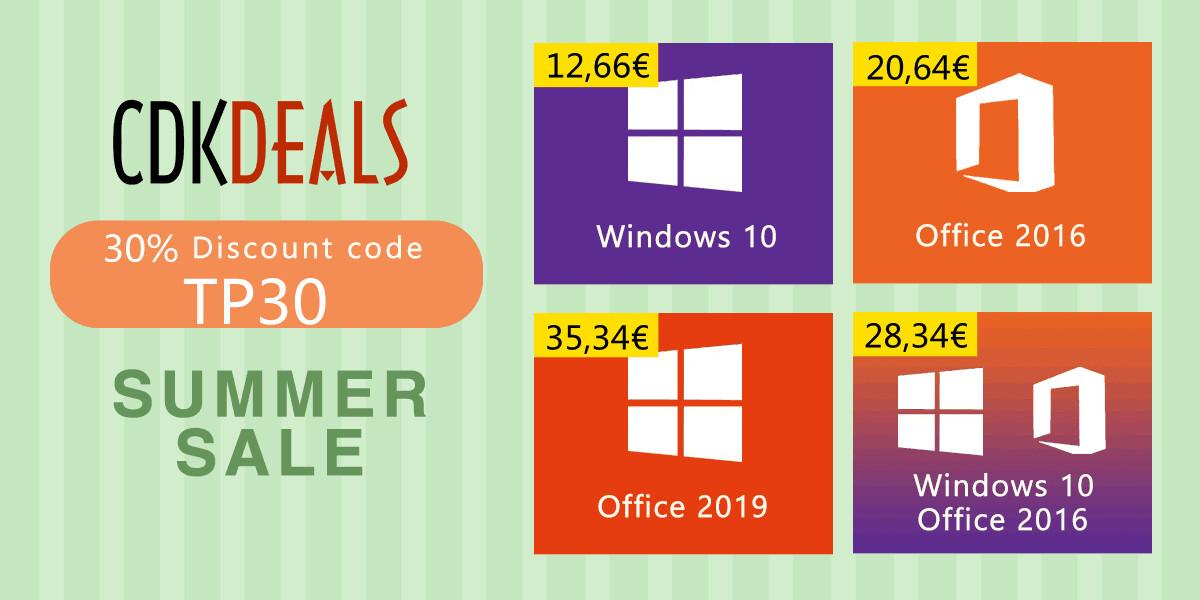CDKDeals Summer Sale: Great Deals on Discount Genuine Software