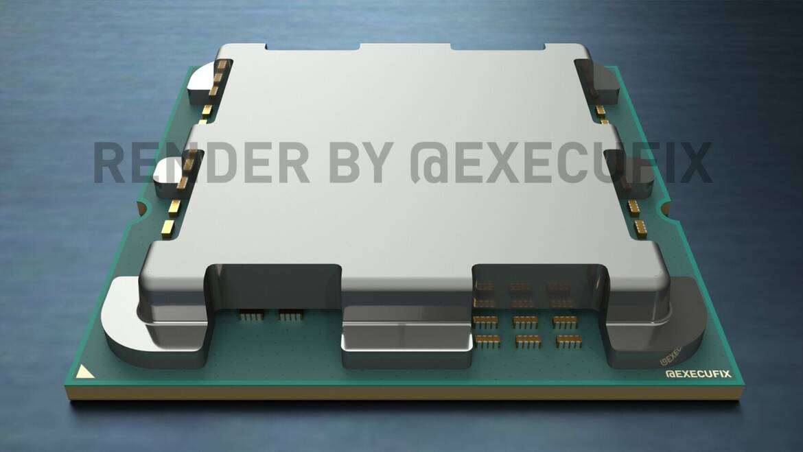 AMD Raphael CPU IHS Features Cutouts for Capacitors