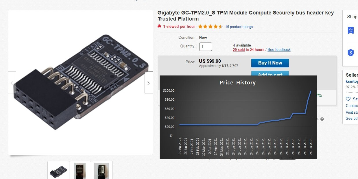 Thanks to Windows 11, Scalpers Buy Out Add-on TPM 2.0 Modules