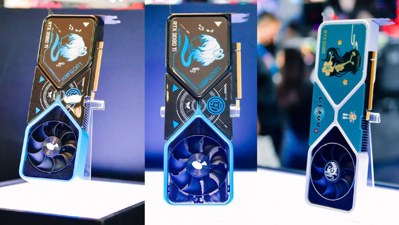 NVIDIA Showcases Custom RTX 3080 Graphics Cards at Bilibili World 2021 – Not for Sale
