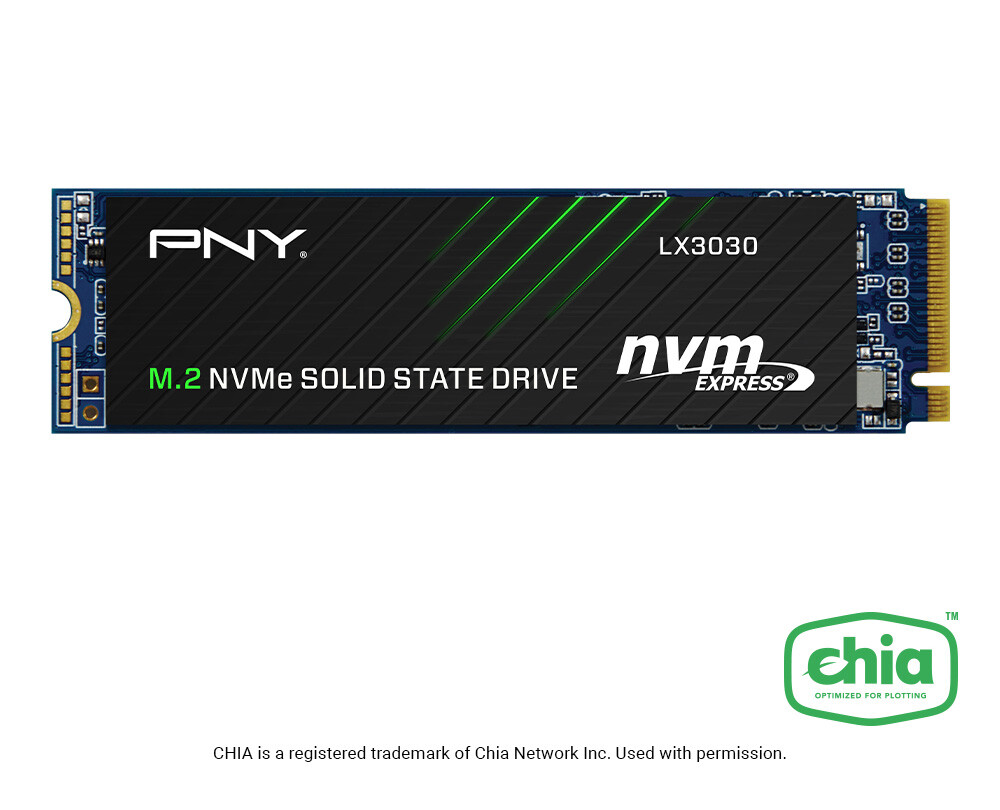(PR) PNY Announces LX2030 and LX3030 M.2 NVMe Gen3 x4 SSDs for Chia Plotting