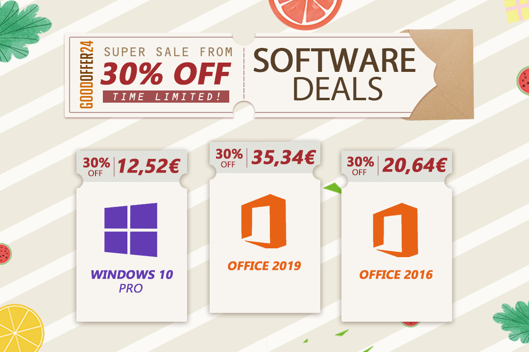 GoodOffer24 Great Sale on Genuine Software: Up to 30% Off