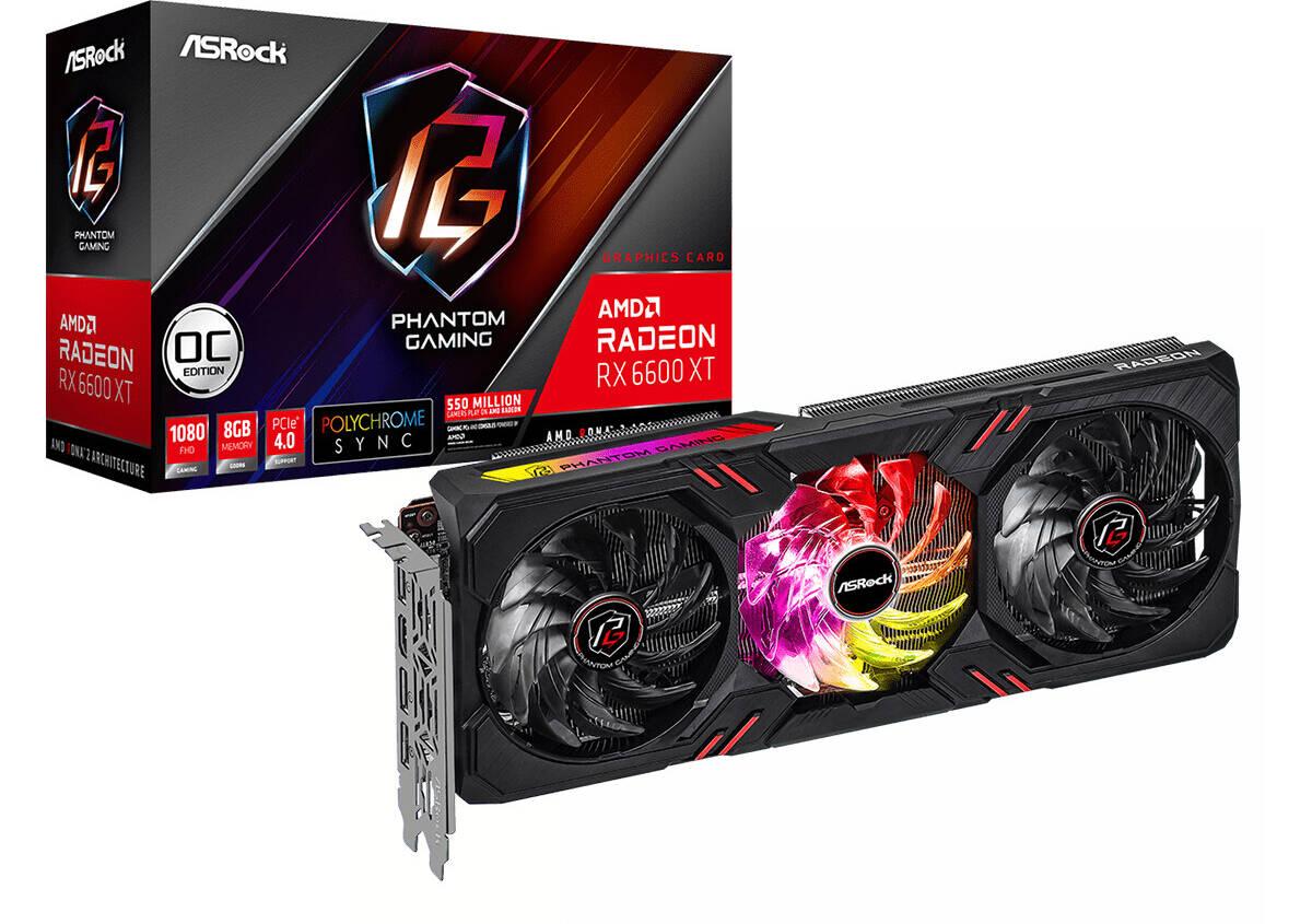 (PR) ASRock Announces Radeon RX 6600 XT Phantom Gaming and Challenger Series