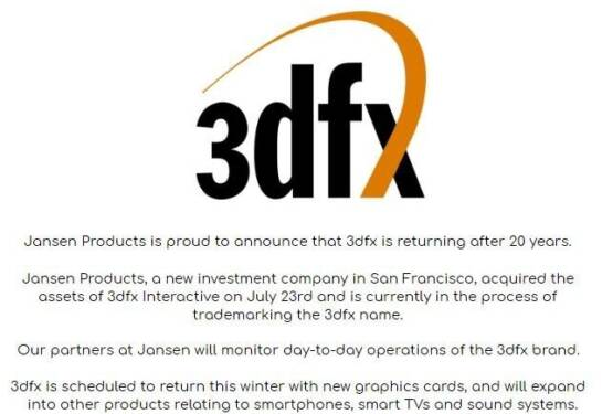 Seemingly Fake Twitter Account Claims the Return of 3dfx Interactive