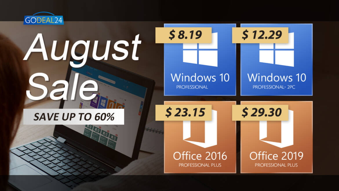 GoDeal24 Announces August Sale, New Low Prices on Genuine Software