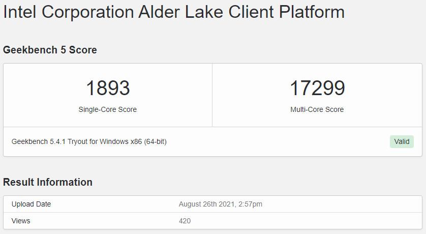 Intel Core i9-12900K Beats AMD Ryzen 9 5950X in Leaked Geekbench Score