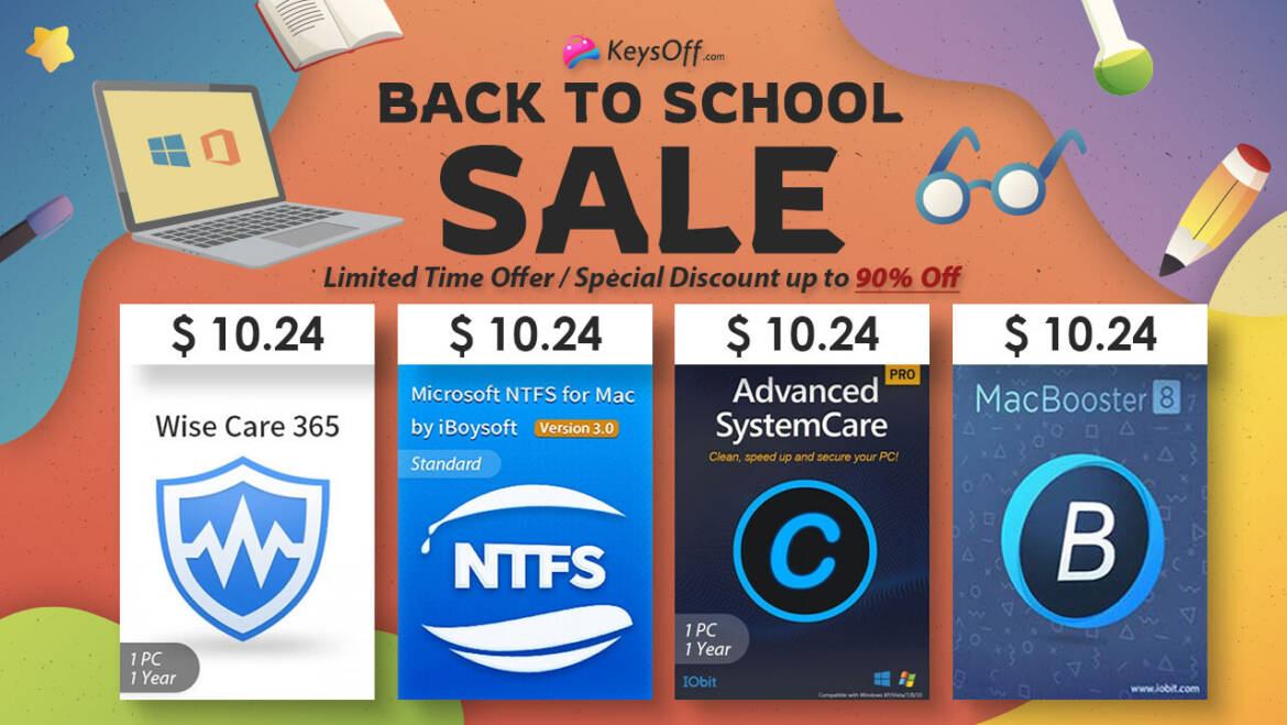 KeysOff Back to School Sale: Get Ready for Windows 11, Great Deals on System Software