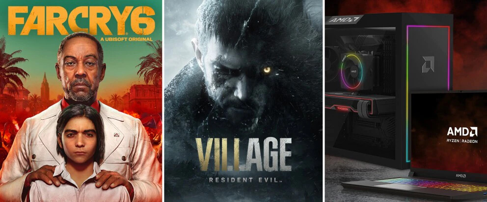 AMD to Bundle Far Cry 6 and Resident Evil Village with AMD-powered Prebuilt Gaming PCs