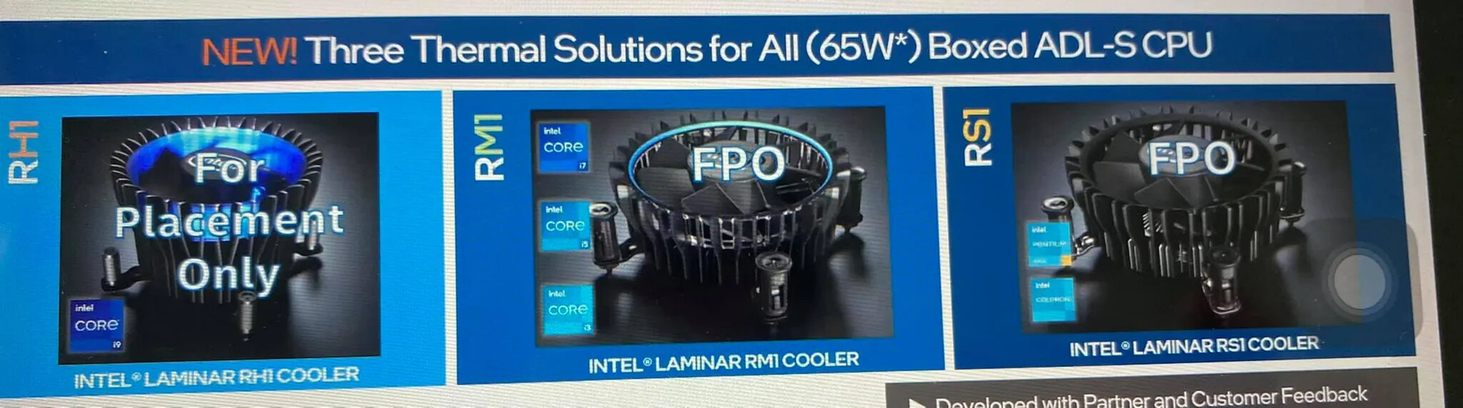 """Intel Designs New Stock Coolers to go with 12th Gen Core """"Alder Lake"""" Processors"""